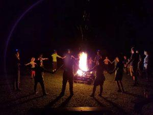 Aboriginal fire dance