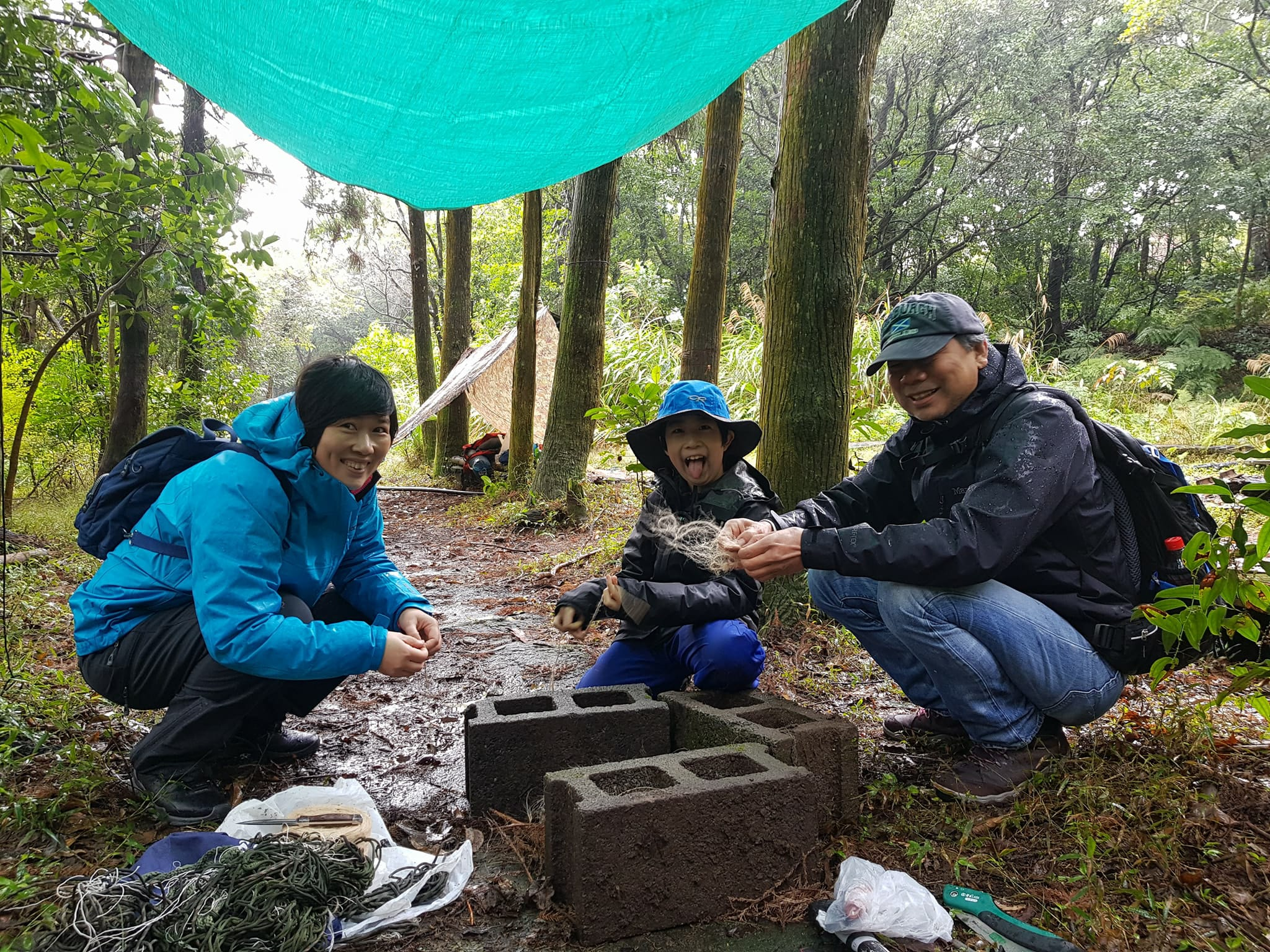 Family survival training trip