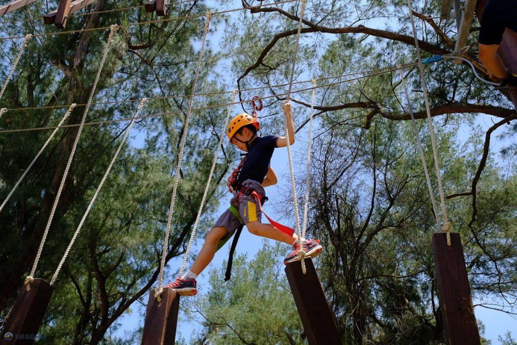 High Ropes adventure climbing Imagine